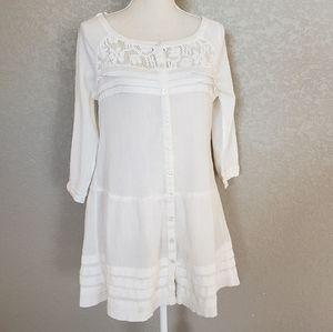 Free people tunic button up
